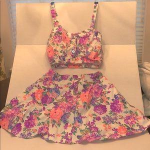 Matching floral set